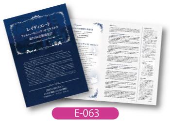 レイディエート・フィルハーモニック・オーケストラ様演奏会プログラムです。シンデレラをイメージしたデザイン。